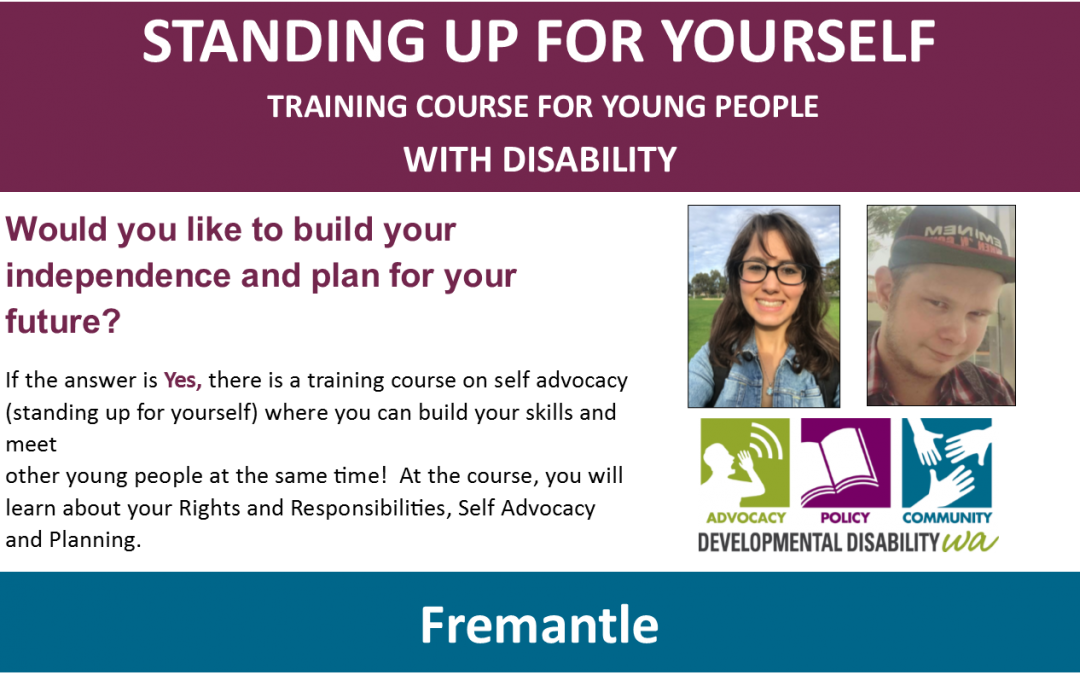 Standing Up For Yourself: Fremantle from 28th Feb 2018 [4 sessions]