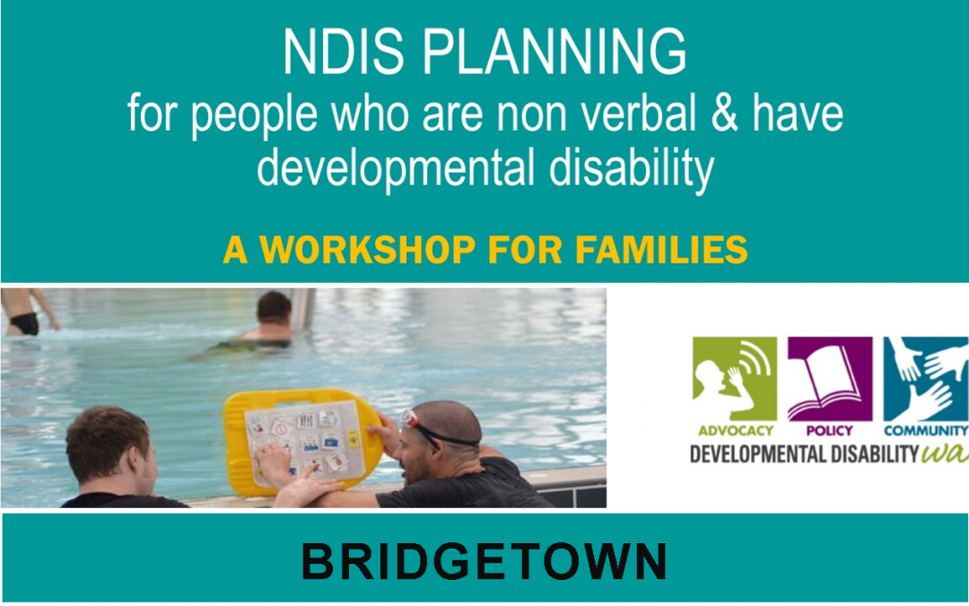 NDIS Planning for people who are non verbal & have developmental disability: Bridgetown