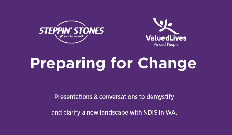 "Steppin' Stones event: ""Preparing for Change"""