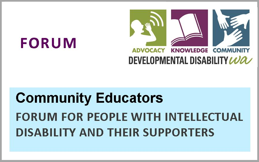 Community Educators Forum