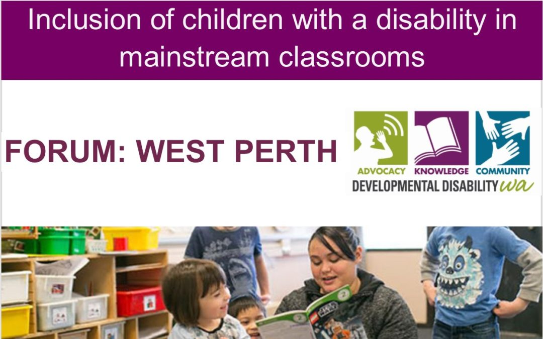 Inclusion of children with a disability in mainstream classrooms