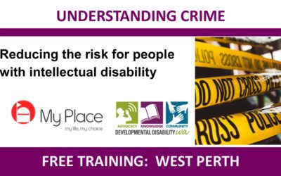Understanding Crime: Reducing the risk for people with intellectual disability