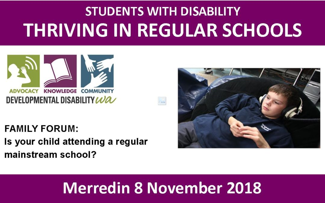 Students with disability thriving in regular schools: Merredin Family Forum