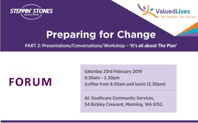 """Steppin' Stones event: """"Preparing for Change"""""""