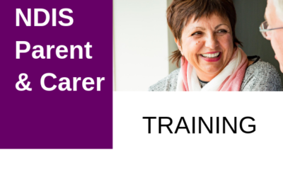 DDWA's NDIS Parent / Carer Training 2019:  12 training workshops