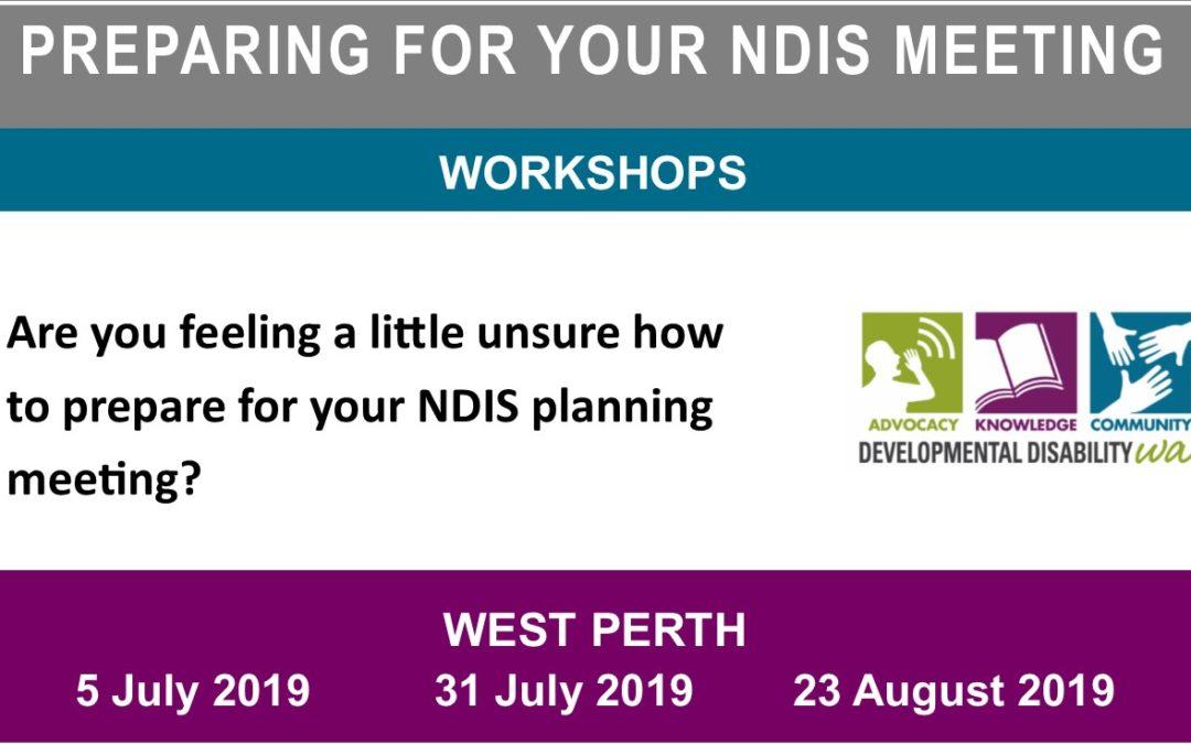 Preparing for your NDIS Meeting: Workshops