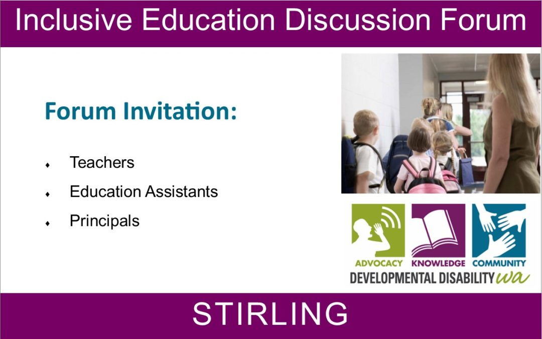 Forum:  Inclusive Education Discussion for Educators