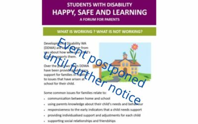 Happy, Safe and Learning at School- a forum for parents