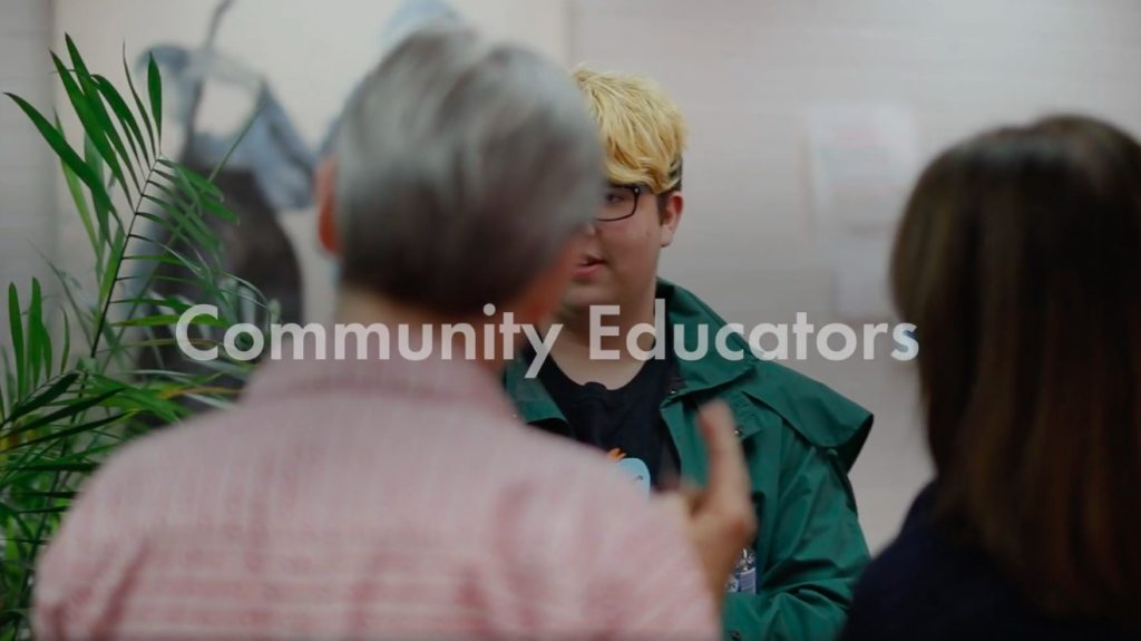 Click on this image to view the Community Educators video