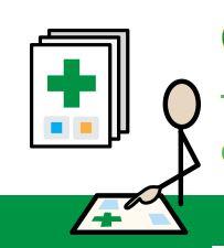 Symbolboardto assist hospital medicalstaff