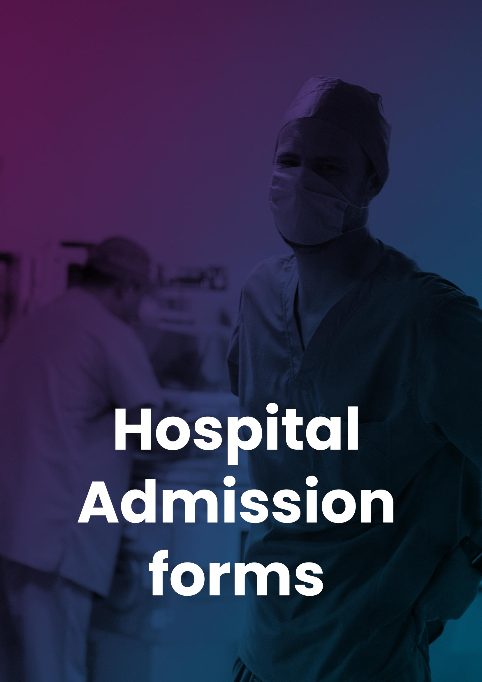 Hospital Admission Forms cover