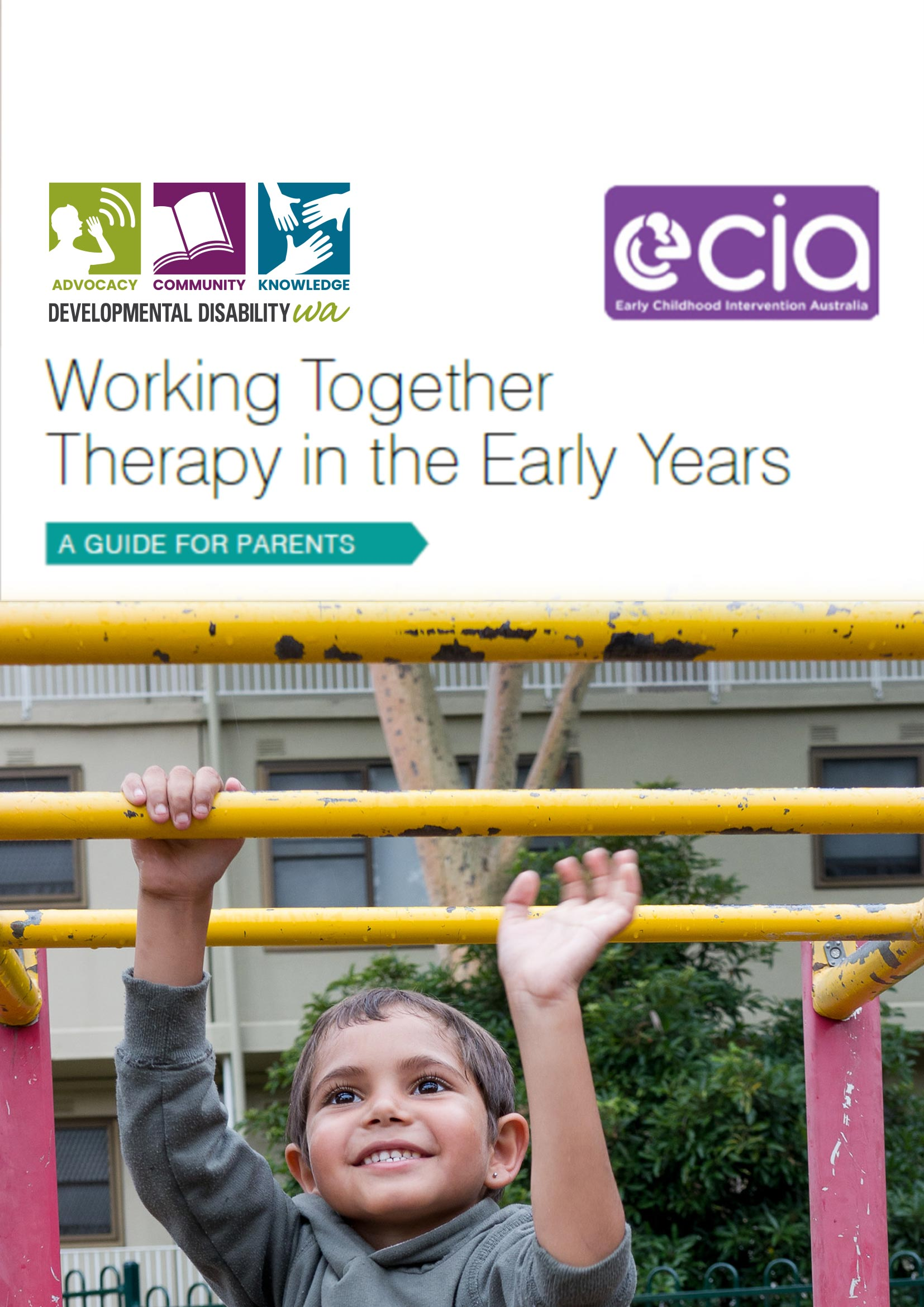 Working Together, therapy in early years PDF cover