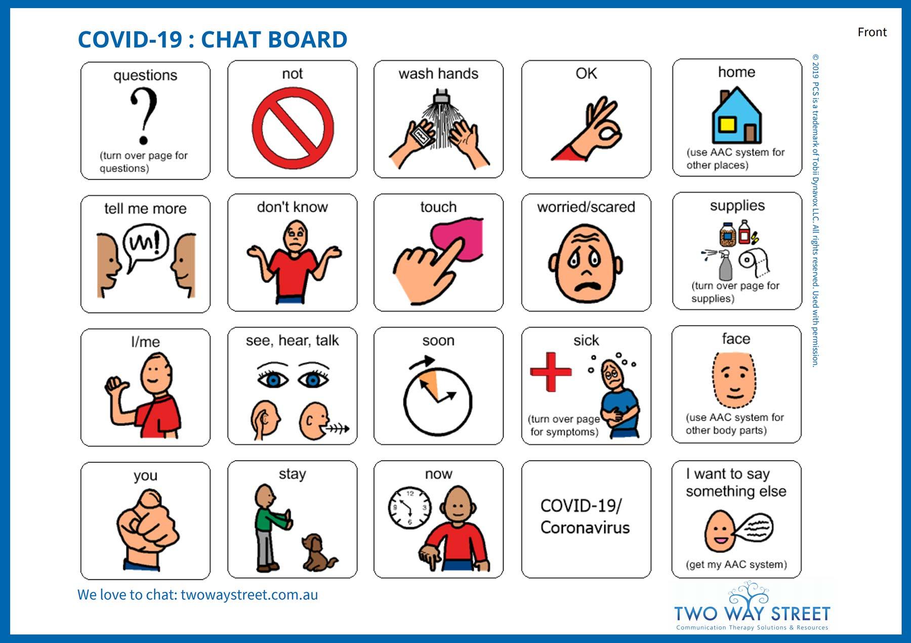 COVID-19 Chatboard cover