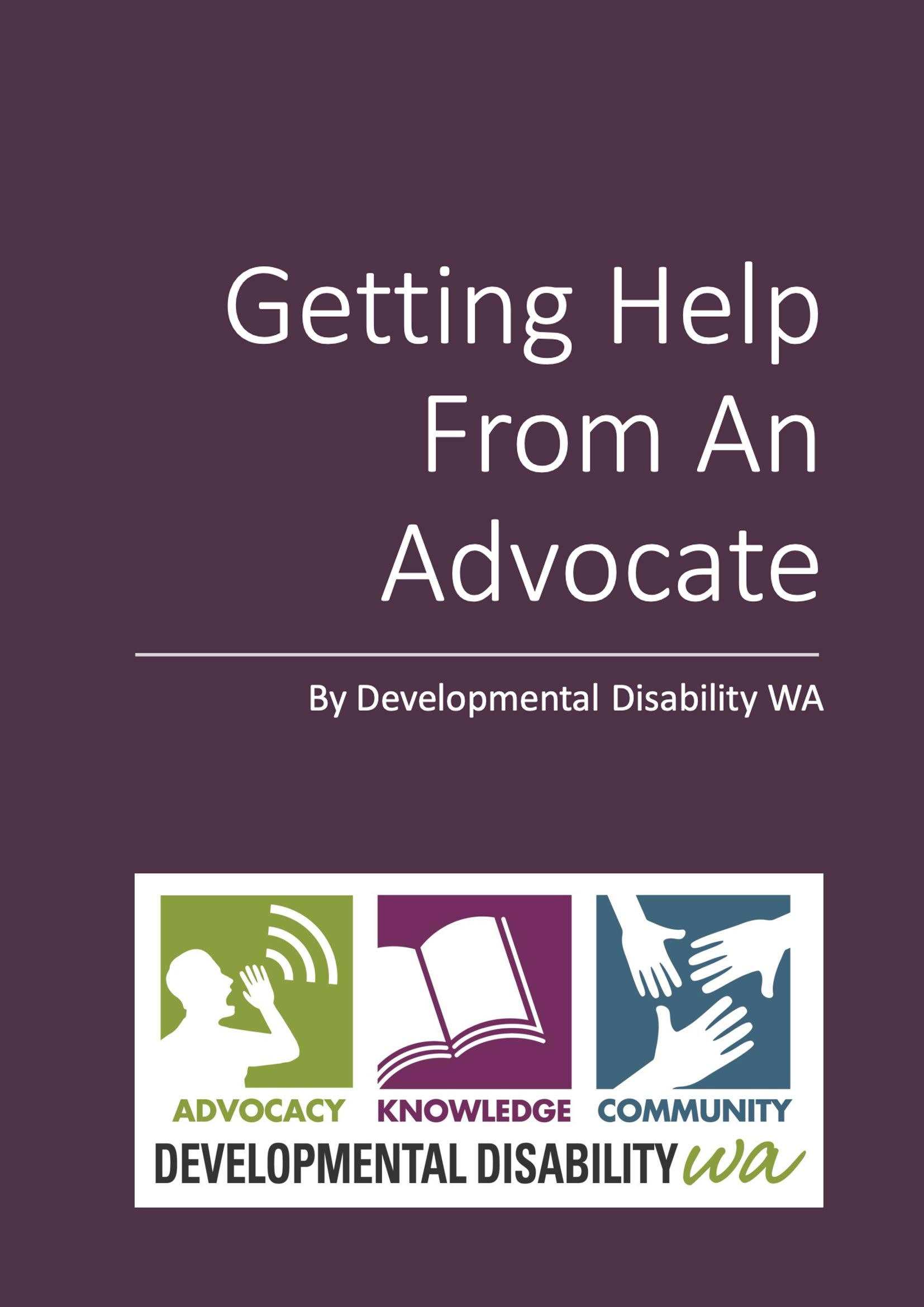 Getting help from an advocate cover