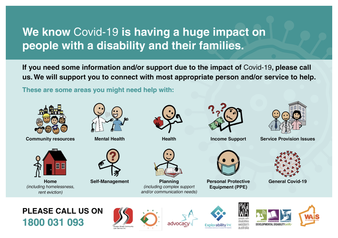 picture of covid helpline information