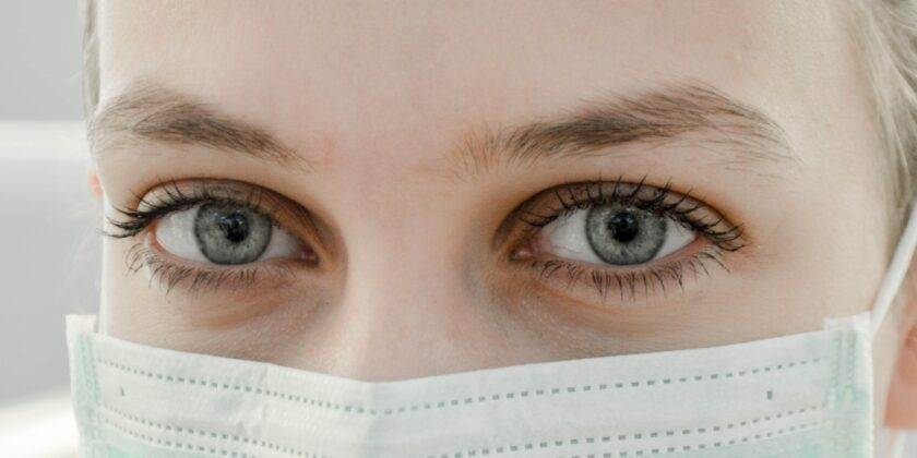 picture of a woman wearing a face mask