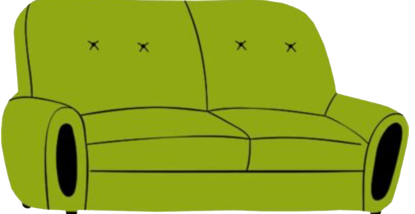 picture of green couch