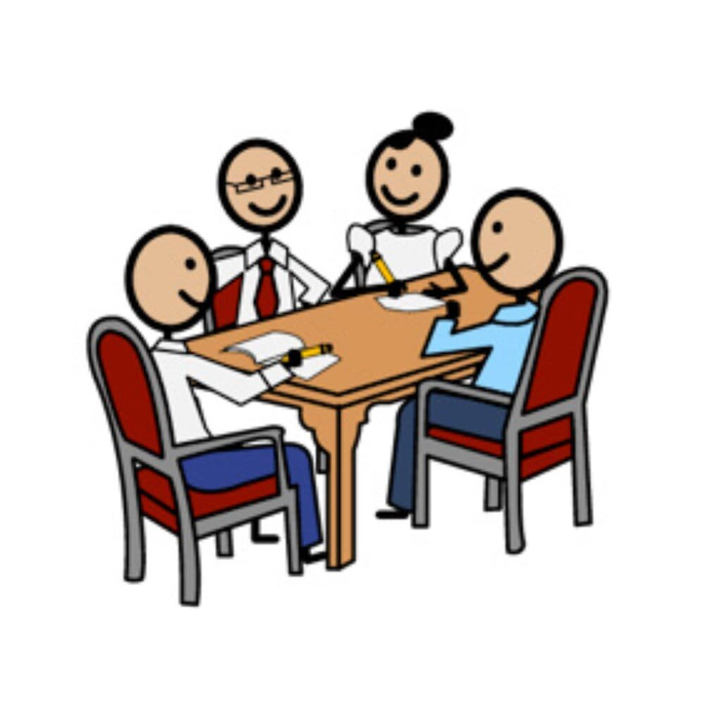 Illustration of a planning meeting